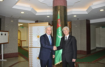 SCO's Secretary-General Rashid Alimov met with Chair of Turkmenistan's Central Commission for Holding Elections and Referendums Gulmurad Muradov