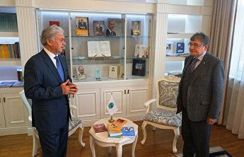 SCO Secretary-General Rashid Alimov met with Andrei Kirillov, President of the SCO Press Club