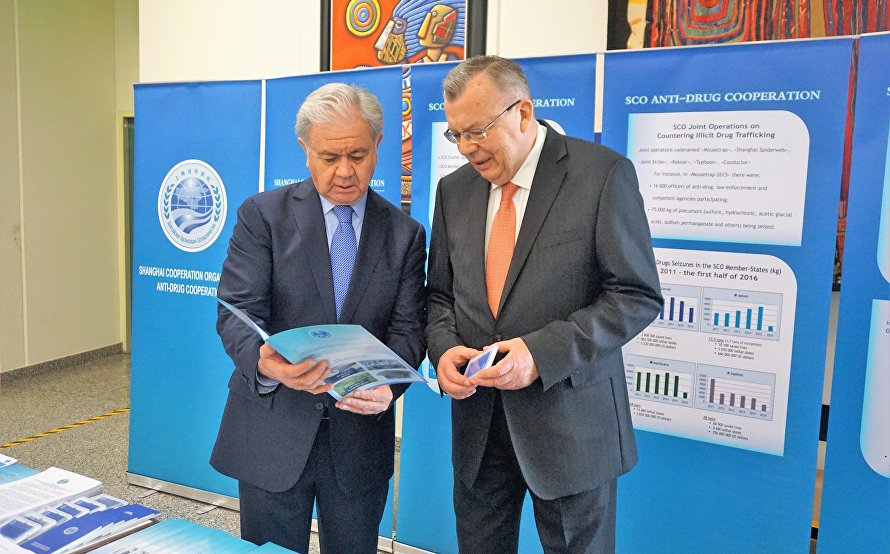 SCO information stand at the United Nations Office in Vienna