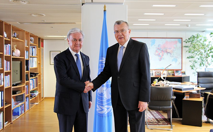 SCO Secretary-General meets with UNODC Executive Director