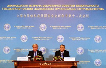 Joint news conference by SCO Secretary-General and Secretary of the Security Council of Kazakhstan