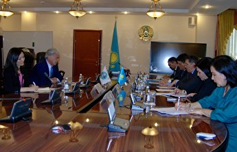 Meeting with Kazakhstan's Minister of Education and Science