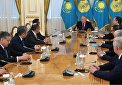 President of Kazakhstan receives SCO foreign ministers