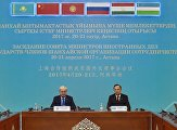 Joint press briefing by Foreign Minister of Kazakhstan Kairat Abdrakhmanov and SCO Secretary-General Rashid Alimov
