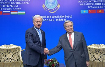 SCO Secretary-General Rashid Alimov and UN Secretary-General Antonio Guterres met on the sidelines of the meeting of the Council of SCO Heads of State