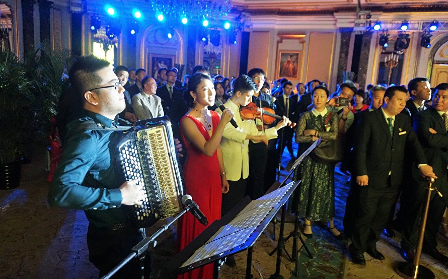 A gala reception to celebrate the 16th anniversary of the Shanghai Cooperation Organisation (SCO)