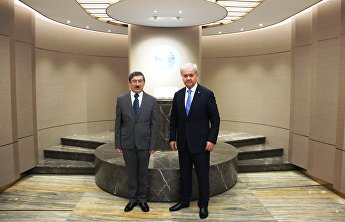 SCO Secretary-General meets with Uzbekistani Ambassador on the conclusion of his mission in China