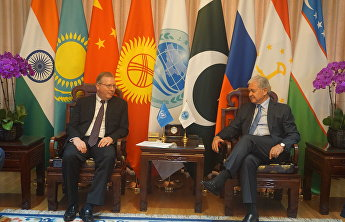 The SCO Secretary-General meets the UN official representative in China