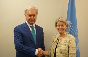 SCO Secretary-General Rashid Alimov met with Director-General of UNESCO