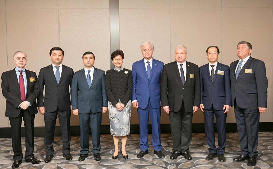 Members of the SCO Ambassadors Club's attend a major Hong Kong Business Forum for the first time