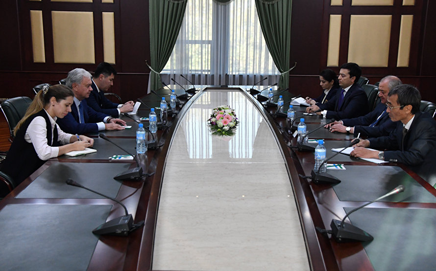 The meeting with Uzbekistan's Foreign Minister in Tashkent