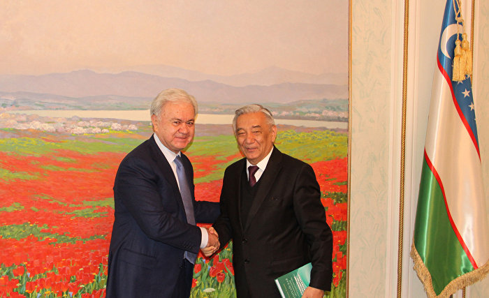 The meeting with Mirza-Ulugbek Abdusalomov, Chairman of the Central Election Commission of the Republic of Uzbekistan
