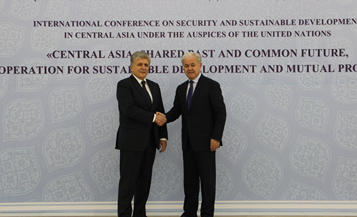The meeting with UN Assistant Secretary-General for Political Affairs Miroslav Jenca