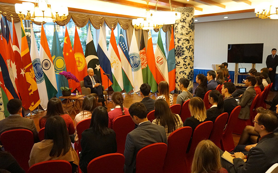 The meeting with representatives of the Youth League of the SCO states