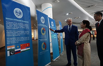 The SCO Information Stand at the UNESCAP headquarters in Bangkok