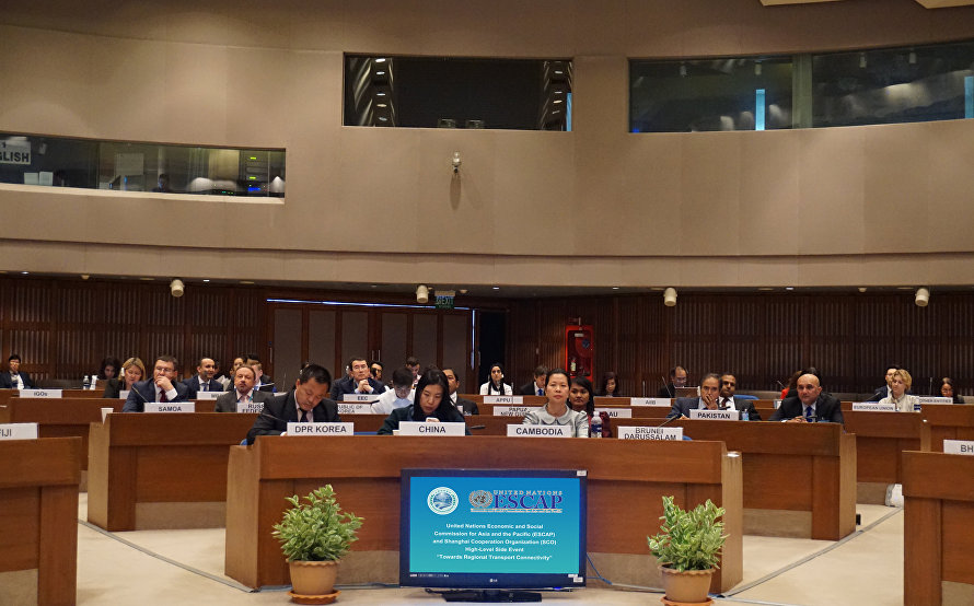 The SCO and ESCAP High-Level Side Event Towards Regional Transport Connectivity