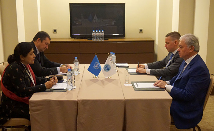 SCO Secretary-General Rashid Alimov had talks with UNESCAP Executive Secretary Shamshad Akhtar