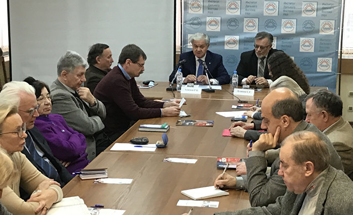 The meeting with scholars of the Russian Academy of Sciences' Institute for Far Eastern Studies
