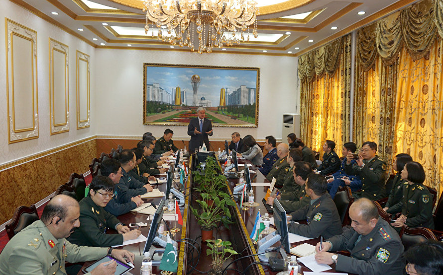 The meeting with participants in the First SCO Defence and Security Forum