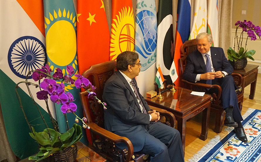 India's Ambassador to China visits SCO Headquarters