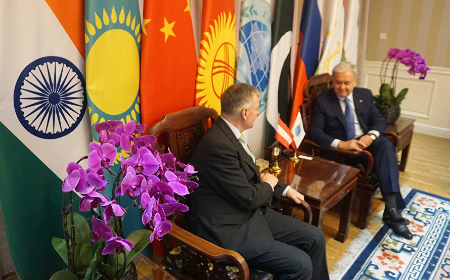 SCO Secretary-General's meeting with Austria's Ambassador to PRC