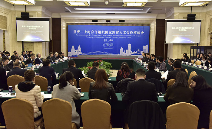 Participants in Chongqing and SCO Countries roundtable