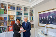 The meeting with Singaporean Ambassador to China