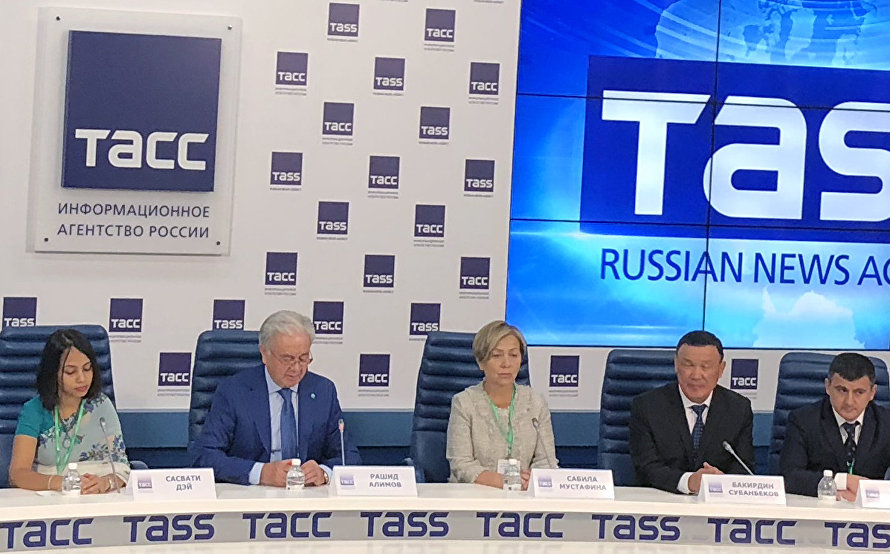 A news conference by SCO Secretary-General Rashid Alimov and members of the SCO Observer Mission on the results of the Russian presidential election