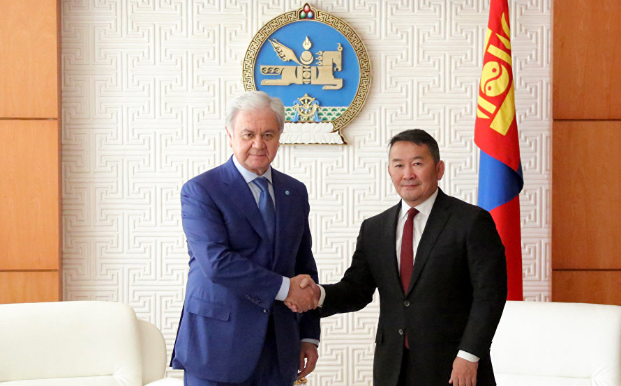 Mongolian president meets with SCO Secretary-General