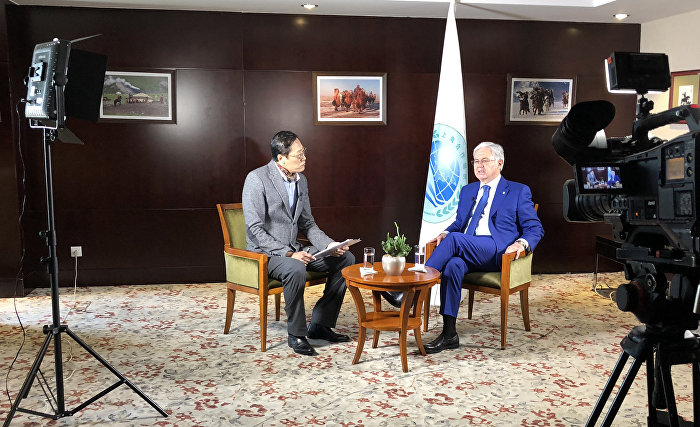 SCO Secretary-General's interview with Mongolian state television