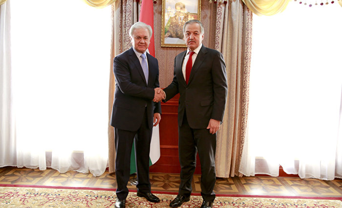 The meeting with the Foreign Minister of the Republic of Tajikistan Sirodjidin Aslov