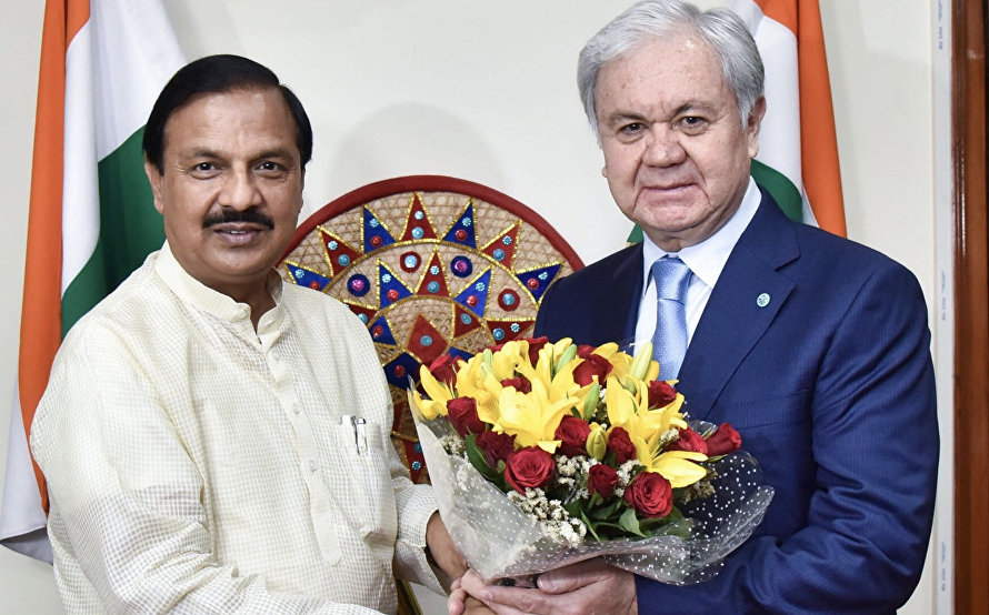 The meeting with Indian Minister of Culture