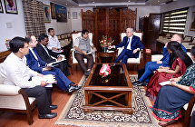 The SCO Secretary-General meets with Indian Minister of Transport