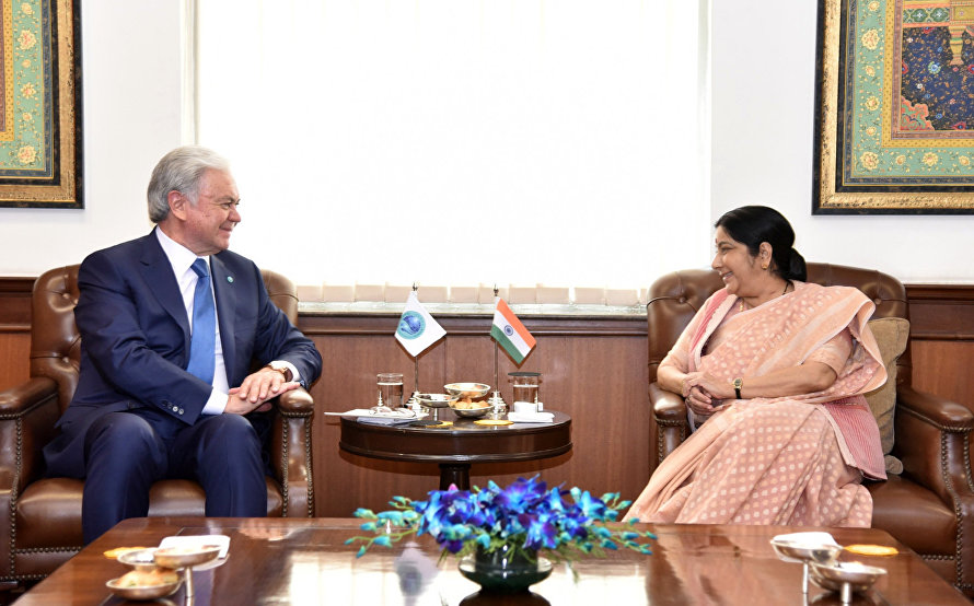 The meeting with India's Minister of External Affairs Sushma Swaraj
