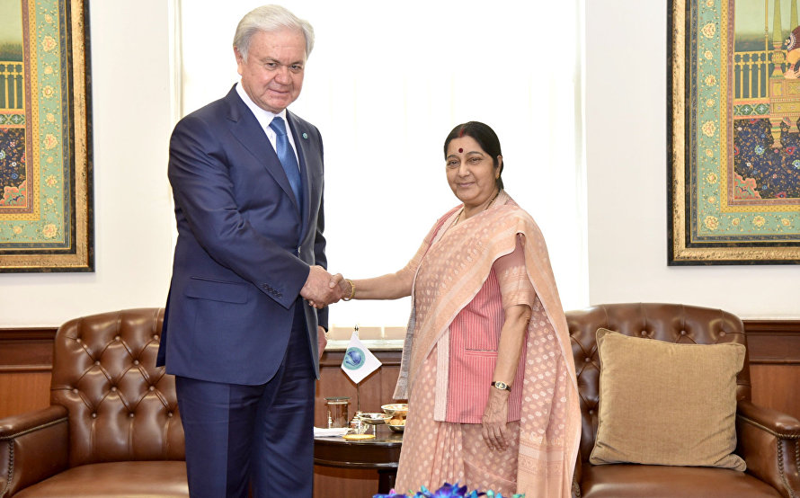 Tht meeting with India's Minister of External Affairs Sushma Swaraj