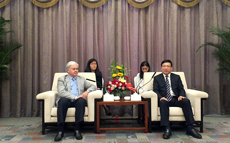 The meeting with Shenzhen Mayor Chen Rugui