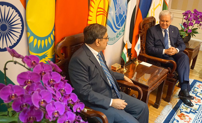 SCO Secretary-General meets with Indian Ambassador to China