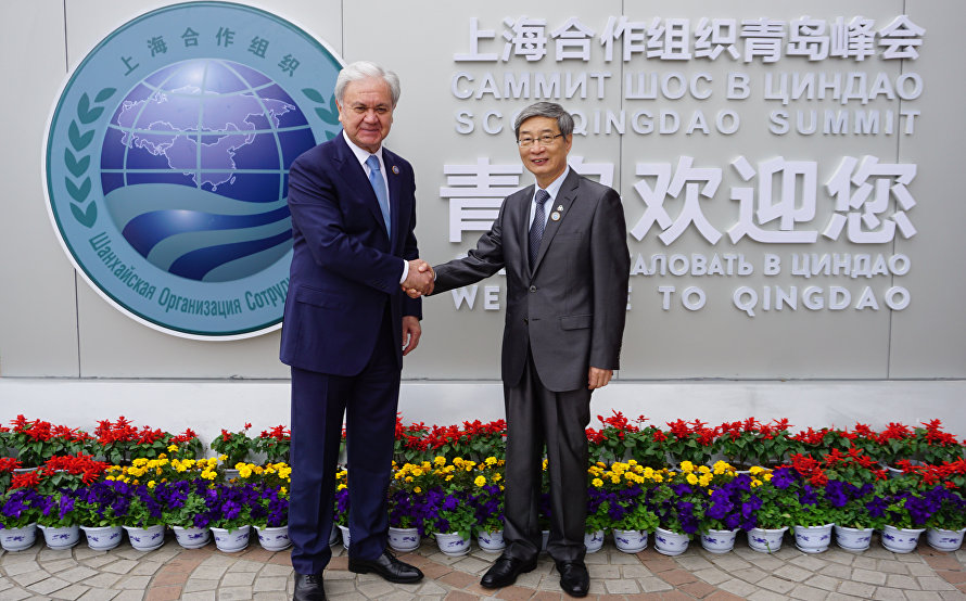 SCO Secretary-General meets with CICA Secretariat Executive Director Gong Jianwei