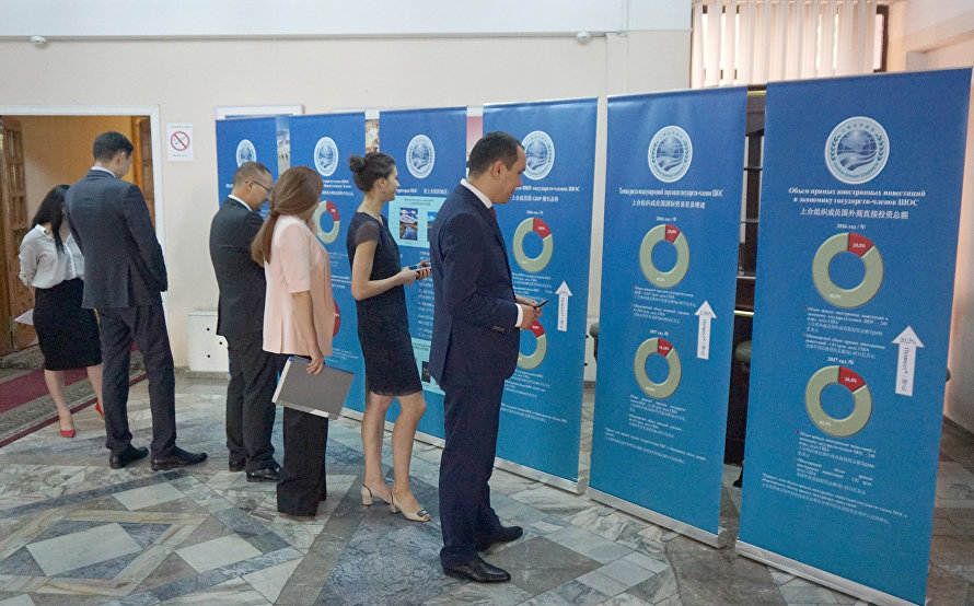 The SCO information stand on the status of trade and economic cooperation and economic indicators of the SCO member states