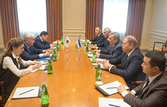 SCO Secretary General meets with the Executive Director of the CICA Secretariat