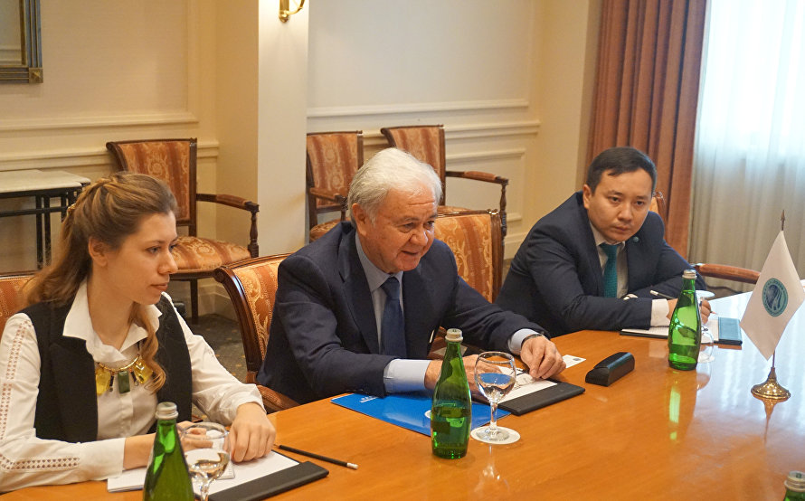 SCO Secretary-General Rashid Alimov met with Olim Narzullaev, Director of the National Information and Analytical Centre on Drug Control under the Cabinet of Ministers of the Republic of Uzbekistan