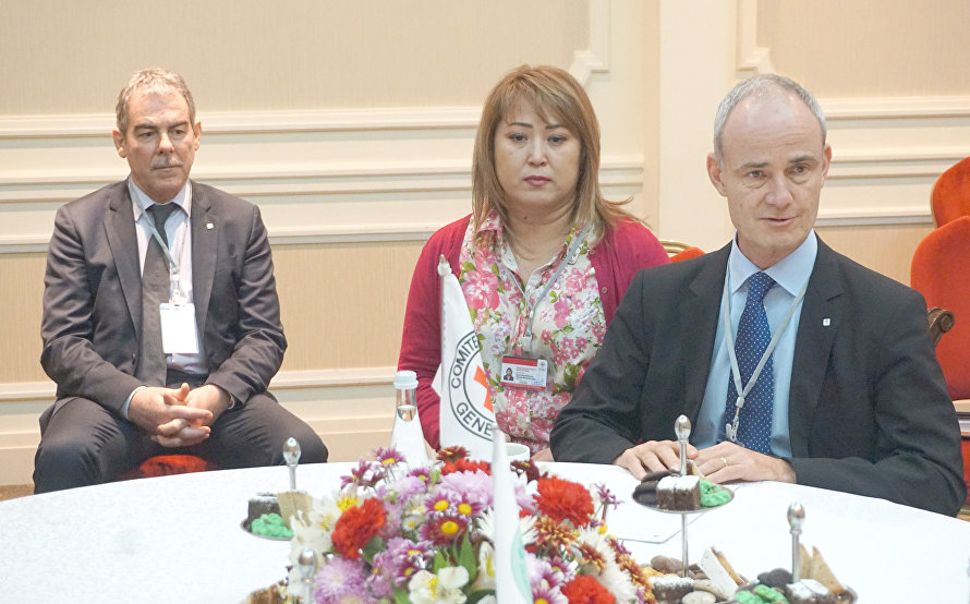 SCO and ICRC discuss cooperation prospects in Tashkent