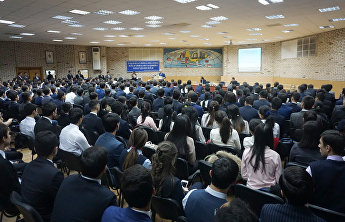 SCO Secretary-General Rashid Alimov met with students and staff at the Tashkent State Institute of Oriental Studies