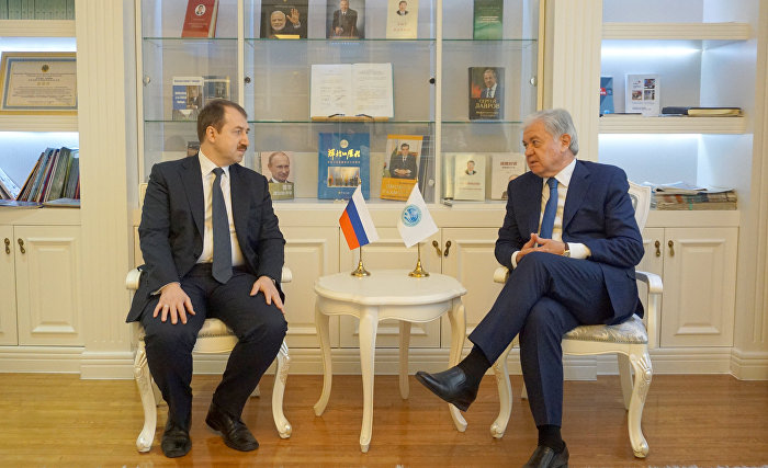 SCO Secretary-General receives Director of Russian Foreign Ministry's Asian and Pacific Cooperation Department Alexei Ovchinnikov