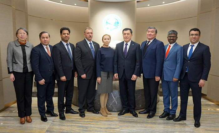 SCO Secretary-General Vladimir Norov met with SCO member state permanent representatives at the SCO Secretariat