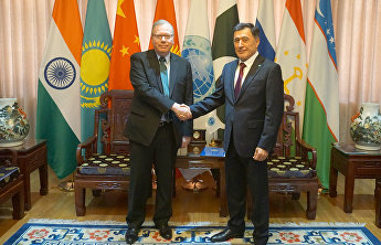 The SCO Secretary-General meets with the UN Resident Coordinator in the People's Republic of China