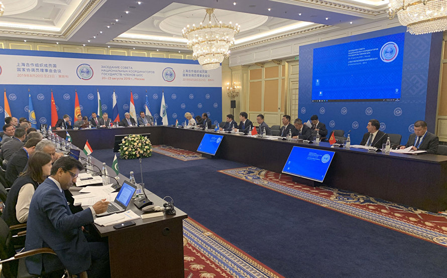 Deputy Foreign Minister Igor Morgulov opens the Meeting of the SCO Council of National Coordinators