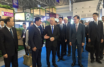 SCO pavilion at the 2nd Smart China Expo