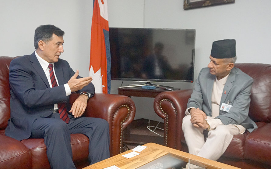 SCO Secretary-General meets with the Nepalese Foreign Minister