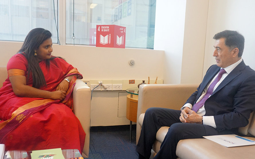 SCO Secretary-General meets with UN Secretary General's Envoy on Youth